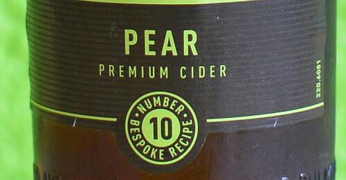 Label-Detail von Bulmers Pear Cider