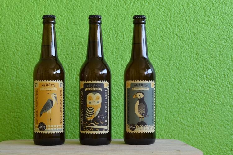 Drei Flaschen Perry's Cider
